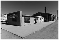 Bombay Beach grocery store. California, USA ( black and white)