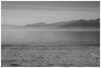 Desert mountains rising avove Salton Sea. California, USA ( black and white)