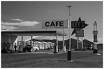 Roys Cafe, Amboy. California, USA ( black and white)
