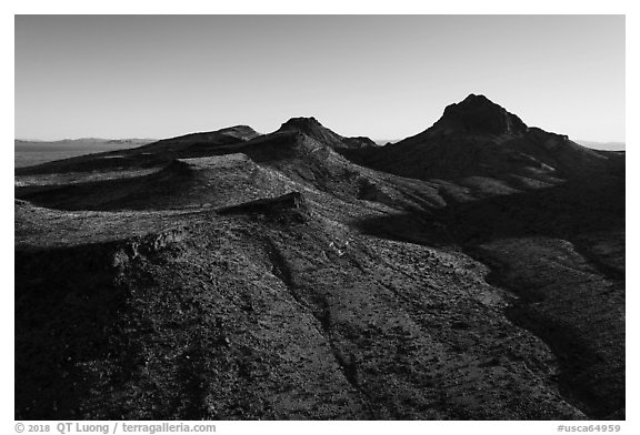 Castle Mountains. Castle Mountains National Monument, California, USA (black and white)