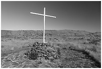 Canby Cross. Lava Beds National Monument, California, USA ( black and white)