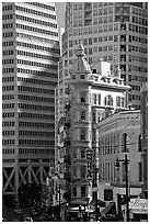 Columbus Tower. San Francisco, California, USA (black and white)