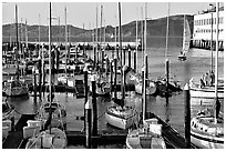 Marina at sunset. San Francisco, California, USA ( black and white)