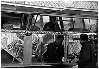 Taco Van. Redwood City,  California, USA (black and white)