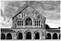 Memorial Chapel, early morning. Stanford University, California, USA (black and white)