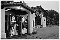 Gas station, highway 1. Carmel-by-the-Sea, California, USA ( black and white)