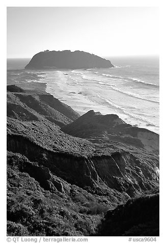 Point Sur. Big Sur, California, USA (black and white)