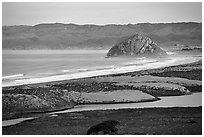 Morro Rock. Morro Bay, USA ( black and white)
