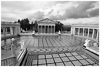 Neptune Pool at Hearst Castle. California, USA ( black and white)