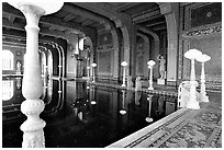 Roman  Pool at Hearst Castle. California, USA (black and white)
