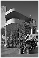 Getty Museum, designed by Richard Meier, Brentwood. Los Angeles, California, USA ( black and white)