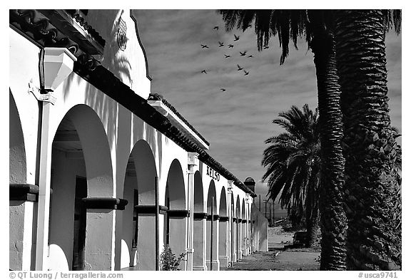 Train station, Kelso. Mojave National Preserve, California, USA (black and white)
