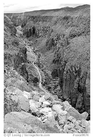 Owens River Gorge. California, USA (black and white)