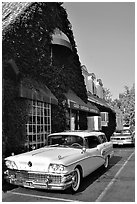 Classic Buick, Bishop. California, USA (black and white)