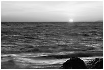 Sunset. Point Reyes National Seashore, California, USA (black and white)