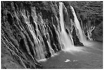 Burney Falls, McArthur-Burney Falls Memorial State Park. California, USA ( black and white)