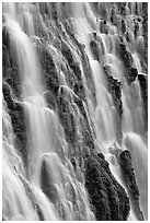 Close-up of Burney Falls, McArthur-Burney Falls Memorial State Park. California, USA ( black and white)