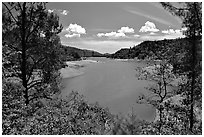Shasta Lake, Wiskeytown-Shasta-Trinity National Recreation Area. California, USA (black and white)