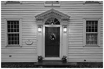 Facade of historic house, Essex. Connecticut, USA ( black and white)