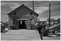 Thomas Oyster House. Mystic, Connecticut, USA ( black and white)
