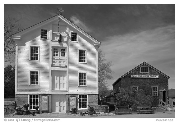 Sail Loft and Ropery. Mystic, Connecticut, USA (black and white)
