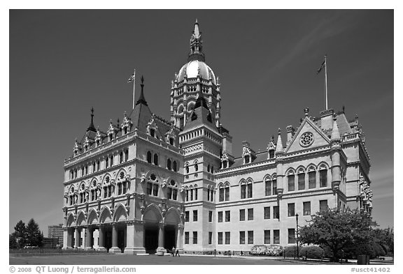 Connecticut State Capitol. Hartford, Connecticut, USA (black and white)
