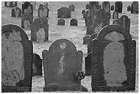 Headstones, Concord. Massachussets, USA (black and white)