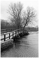 Old North Bridge, Minute Man National Historical Park. Massachussets, USA (black and white)