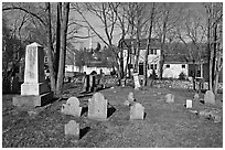 Cemetery, Sandwich. Cape Cod, Massachussets, USA ( black and white)