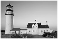 Cape Cod Light, early morning, Cape Cod National Seashore. Cape Cod, Massachussets, USA (black and white)