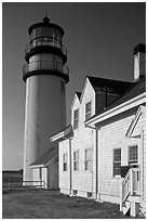 Highland Light, early morning, Cape Cod National Seashore. Cape Cod, Massachussets, USA ( black and white)
