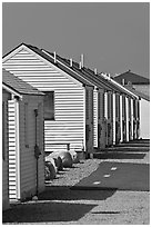 Beach Cottages, Truro. Cape Cod, Massachussets, USA ( black and white)