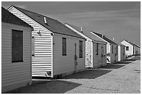 Day Cottages, Truro. Cape Cod, Massachussets, USA ( black and white)