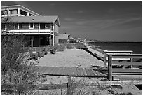 Beach houses, Provincetown. Cape Cod, Massachussets, USA ( black and white)