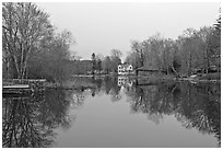 Shawme Millpond, Sandwich. Cape Cod, Massachussets, USA ( black and white)