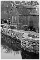 Dexter Grist Mill, Sandwich. Cape Cod, Massachussets, USA ( black and white)