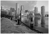 Harbor skyline. Boston, Massachussets, USA ( black and white)