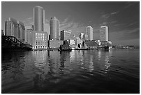 Rowes Wharf Skyline. Boston, Massachussets, USA ( black and white)
