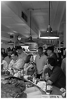 Union Lobster House, oldest restaurant in continuous service in the US. Boston, Massachussets, USA ( black and white)