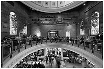 Quincy Market dome,  Faneuil Hall Marketplace. Boston, Massachussets, USA ( black and white)