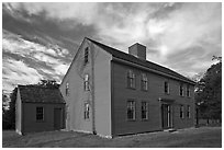Historic Samuel Brooks House, Minute Man National Historical Park. Massachussets, USA ( black and white)