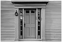 Door of Samuel Brooks House, Minute Man National Historical Park. Massachussets, USA (black and white)