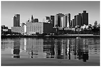 North End and Boston Skyline. Boston, Massachussets, USA ( black and white)