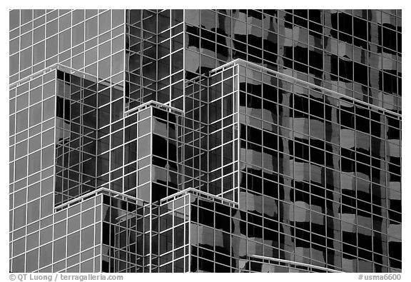 Modern architecture. Boston, Massachussetts, USA (black and white)