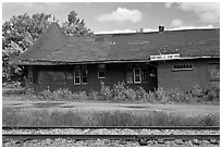 Abandonned railroad station, Greenville Junction. Maine, USA ( black and white)