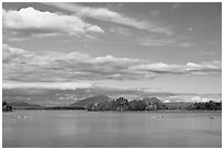 Deep Cove, Moosehead Lake. Maine, USA ( black and white)