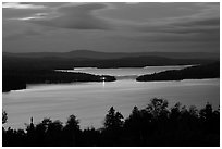 Moosehead Lake at dusk, Greenville. Maine, USA ( black and white)