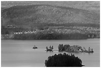 Islets, Moosehead Lake. Maine, USA ( black and white)