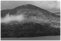 Big Moose Mountain and cloud. Maine, USA ( black and white)