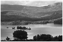 Lake autumn landscape. Maine, USA ( black and white)